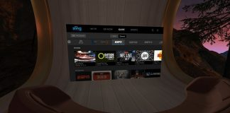 Sling TV app releases for the Oculus Go