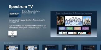 Charter Spectrum's App for Apple TV Launches