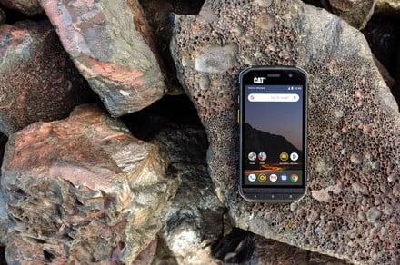 Building sites, mountains, and water, the Cat S48c can handle it all