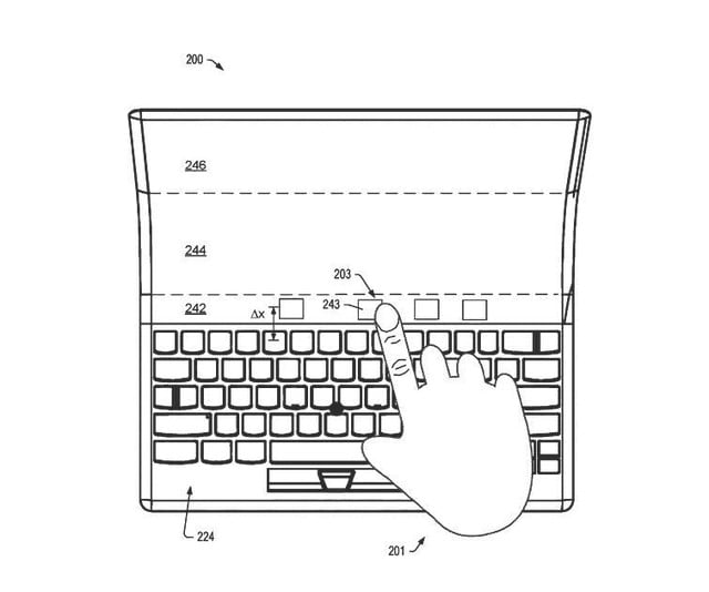 lenovo patent folding laptop oled display 2