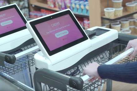 This high-tech shopping cart has the same aim as Amazon Go