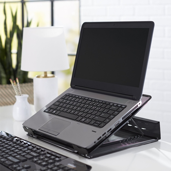 Keep your laptop cool with this $10 AmazonBasics laptop stand at 50% off