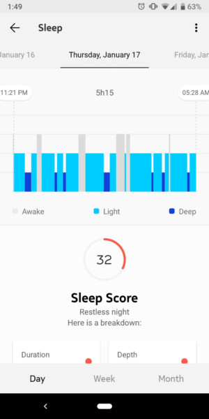 withings move health mate review sleep score