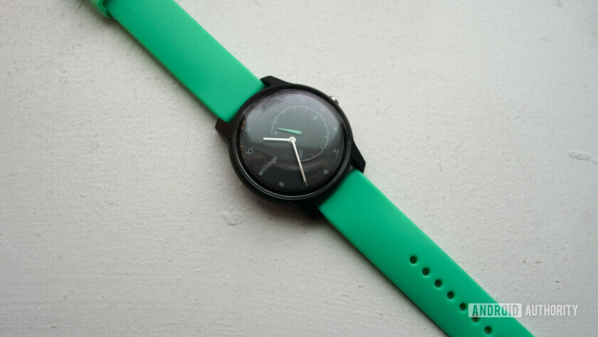 withings move review watch fitness tracker black mint watch face