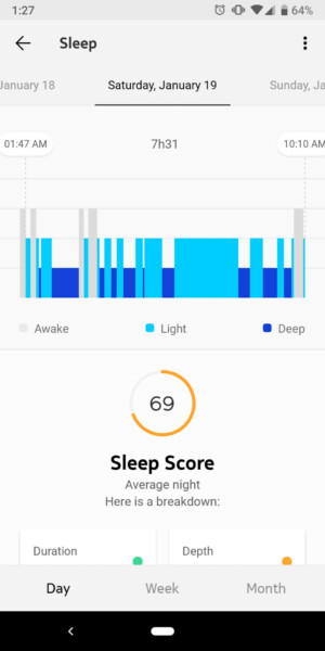 withings move sleep tracking vs fitbit