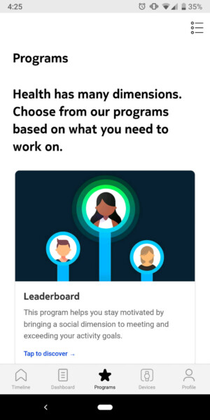 withings move health mate programs leaderboards