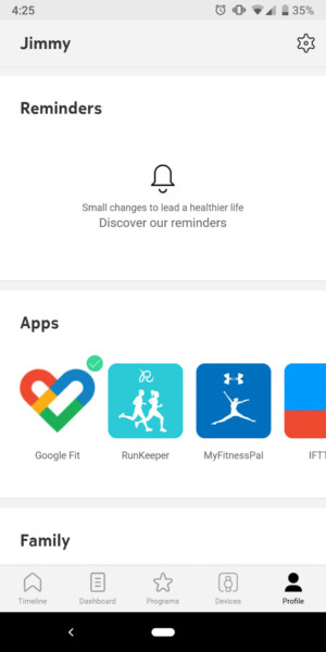 withings move health mate app support
