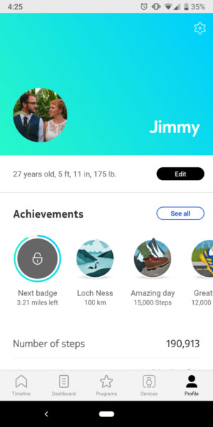withings move health mate achievements
