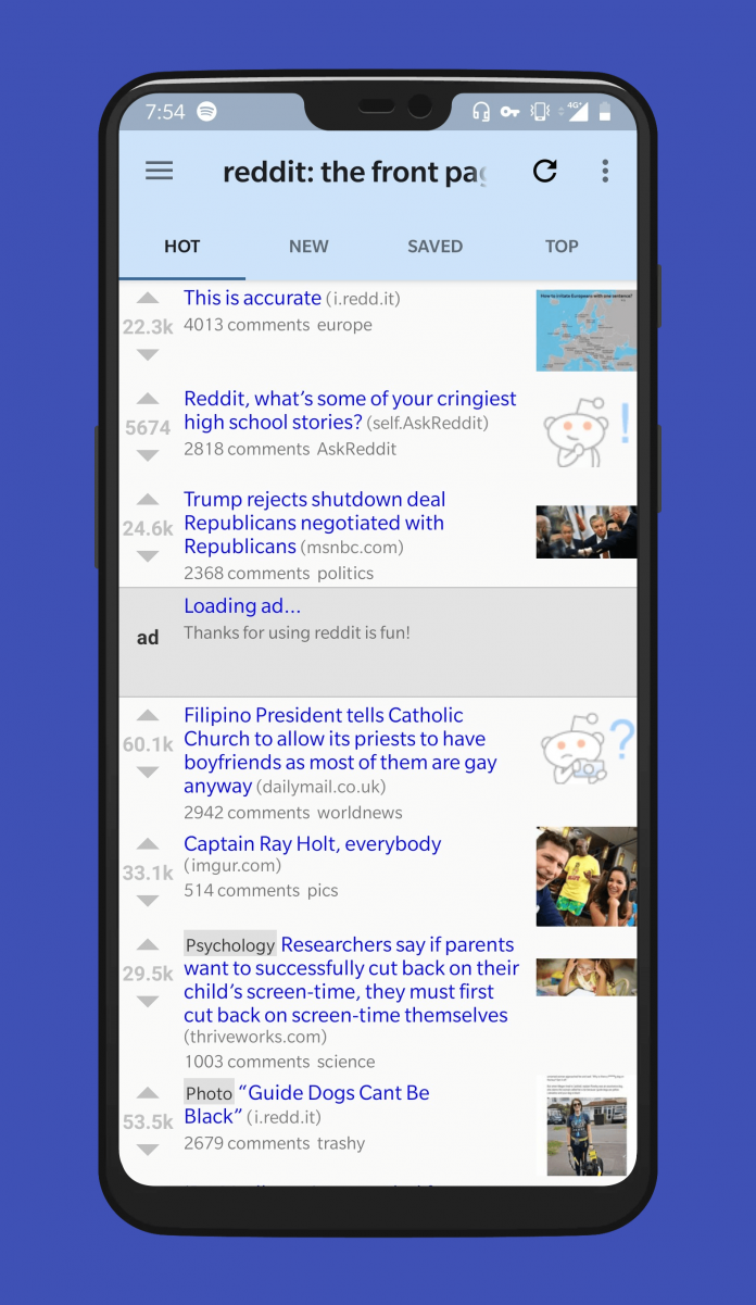 Do you miss old Reddit? Consider Reddit is Fun for your phone (Review)