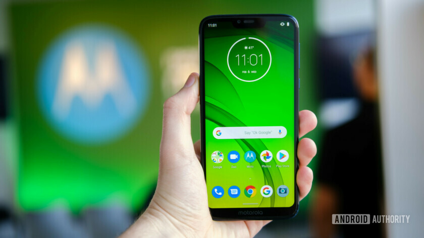 Moto G7 Power display