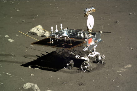 Chang'e 4 rover spotted on the moon's surface by Lunar Reconnaissance Orbiter