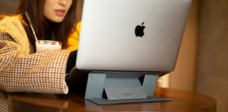 The MOFT laptop stand hides a secret that makes MacBooks comfortable to use