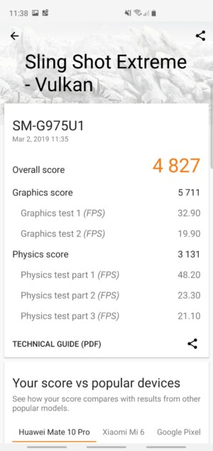 Samsung Galaxy S10 Plus 3DMark Benchmark