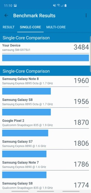 Samsung Galaxy S10 Plus Geekbench Benchmark