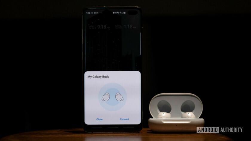 Samsung Galaxy Buds pairing menu