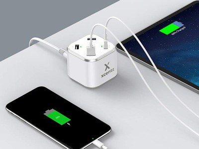 The Xcentz 5-port USB-C charging station is discounted to $19 right now