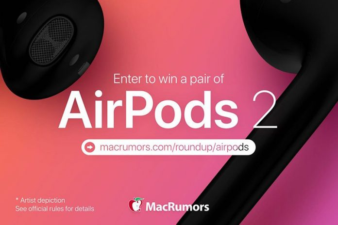 MacRumors Giveaway: Win a Pair of Apple's Upcoming AirPods 2