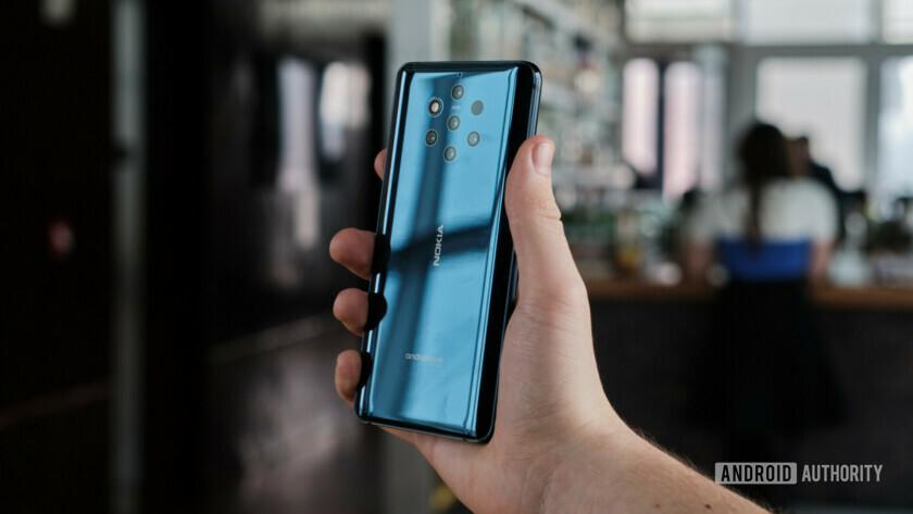 Nokia 9 held in hand back side