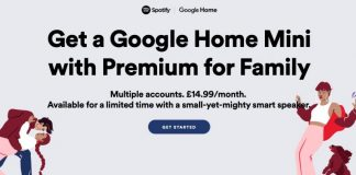 Spotify Offering UK Family Plan Subscribers a Free Google Home Mini Speaker