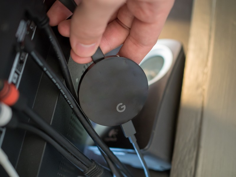 chromecast-ultra-with-cables-back-of-tv-