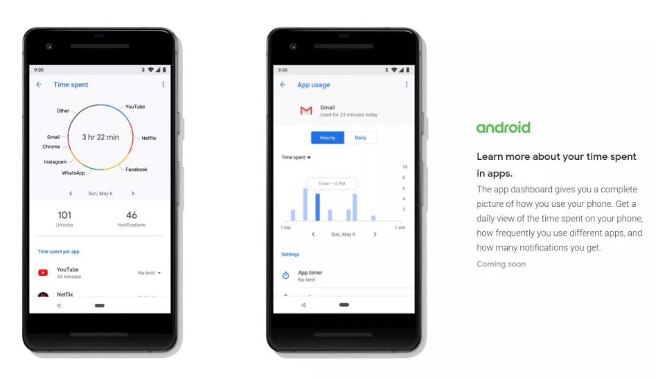 App Timer Digital Wellbeing Android Pie