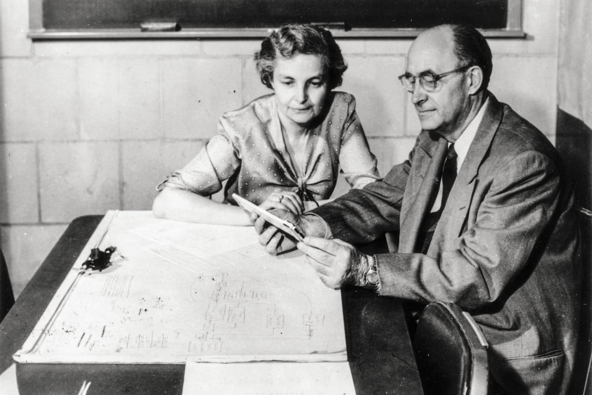 Laura Capon and Enrico Fermi