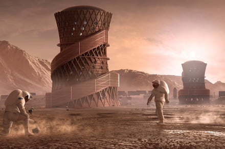 Finalists from NASA's 3D-printed Mars home challenge are out of this world