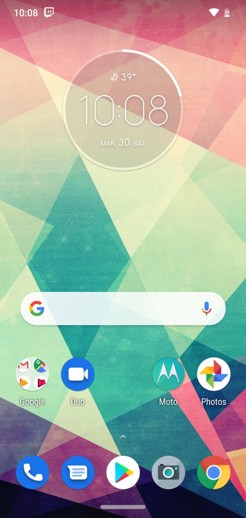 Moto G7 Review software UI screenshots