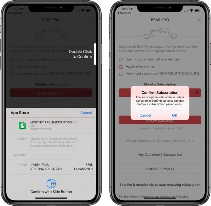 Apple Adds Extra Confirmation Step When Purchasing Subscriptions in Apps