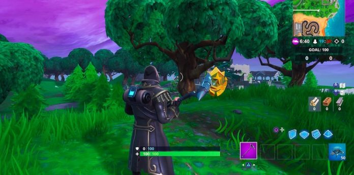Explore the map! How to find where the knife points in Fortnite