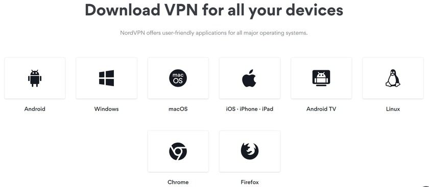 nordvpn supported platforms