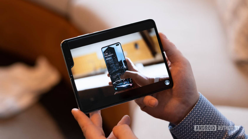Samsung Galaxy Fold watching YouTube 2