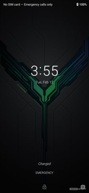 Black Shark 2 Review lock screen