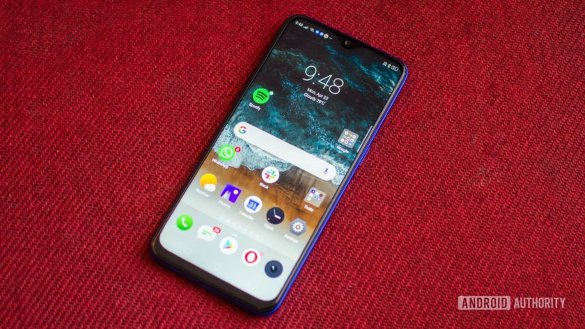 Realme 3 Pro front of the phone