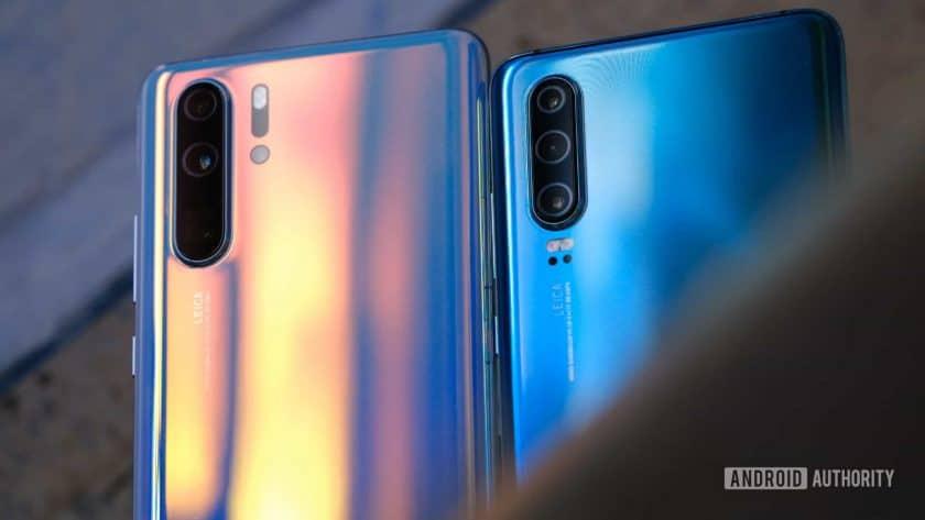 Huawei P30 Pro and Huawei P30 backs