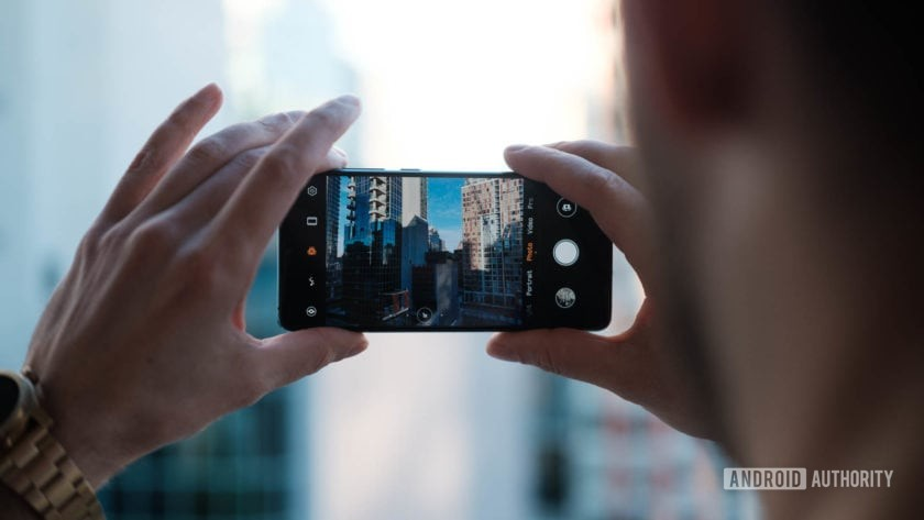 Huawei P30 taking a photo