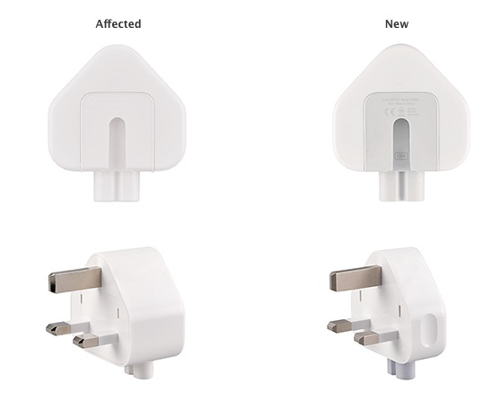 Apple Voluntarily Recalls Some Older Three-Prong Wall Plug Adapters Due to Risk of Electrical Shock