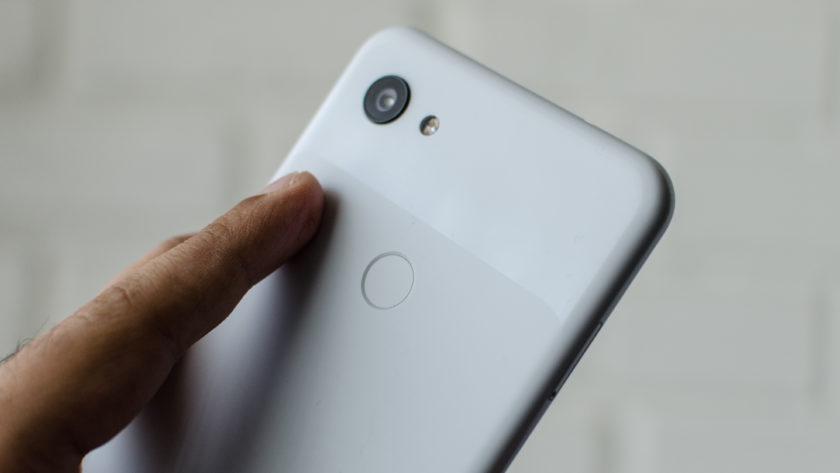Google Pixel 3a XL fingerprint scanner
