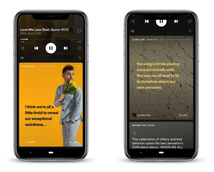 Spotify Tests Snapchat-Style Stories Feature Called 'Storyline' Offering Additional Artist Content