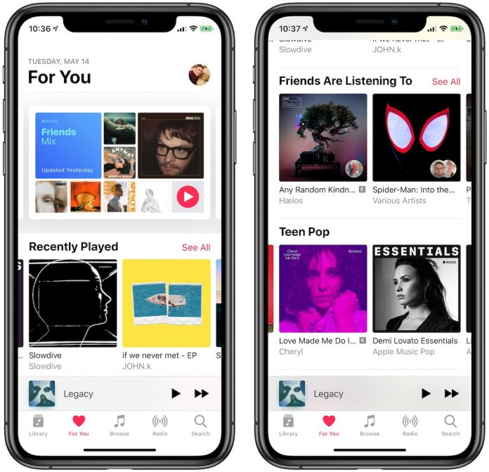 Apple Music Updates 'For You' With New Layout Featuring More Frequent Song Recommendations