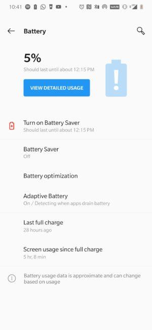 OnePlus 7 Pro Battery Life 1