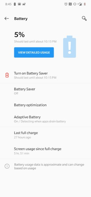 OnePlus 7 Pro Battery Life 2