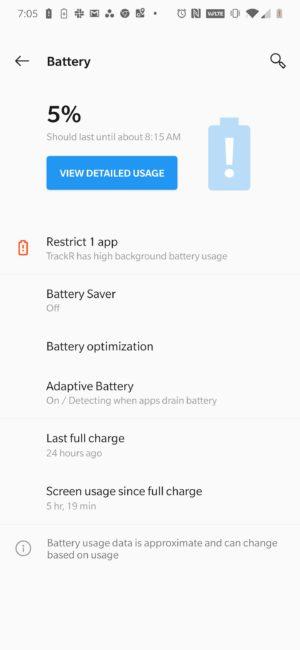 OnePlus 7 Pro Battery Life 3