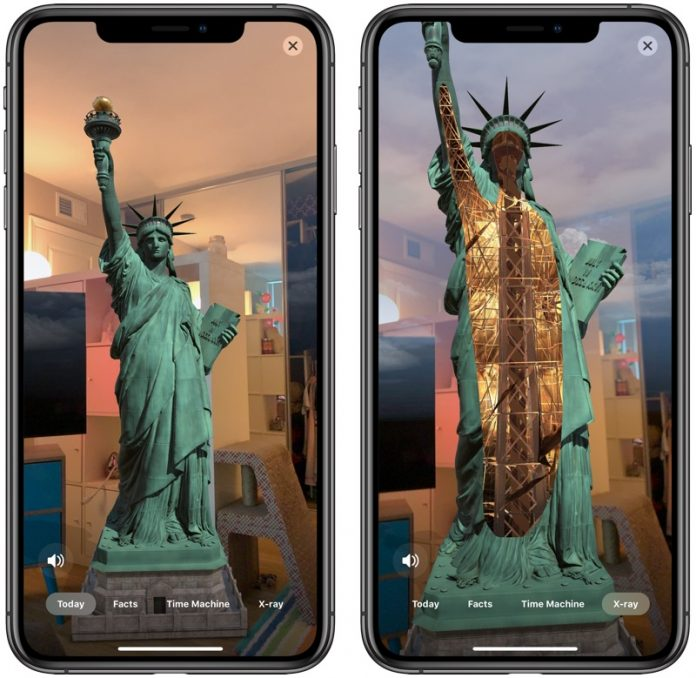 Apple CEO Tim Cook Promotes New Statue of Liberty Augmented Reality App