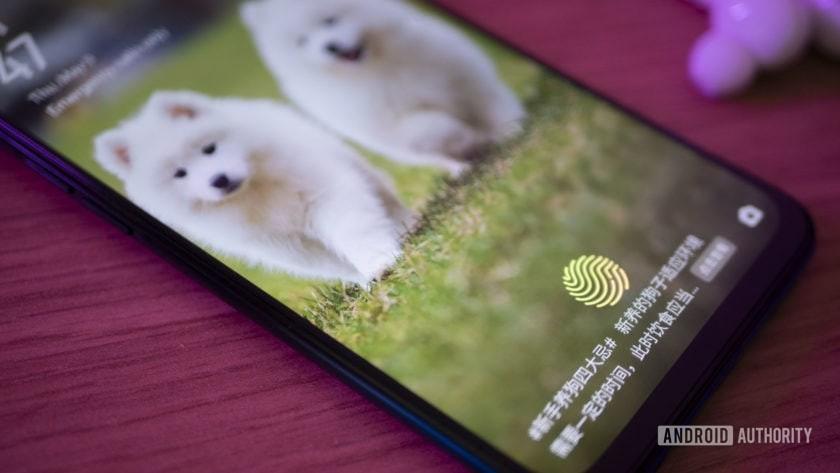 Realme X in-display fingerprint sensor