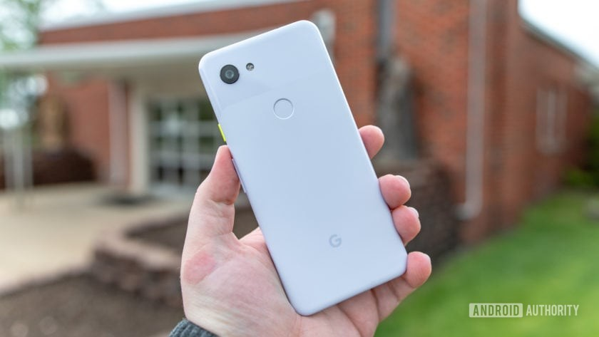 Google Pixel 3a Purple-ish Rear