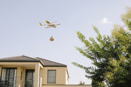 Meatballs and pastries offered by Wing's first European drone delivery service