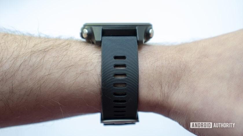 garmin forerunner 245 music running watch on wrist with strap