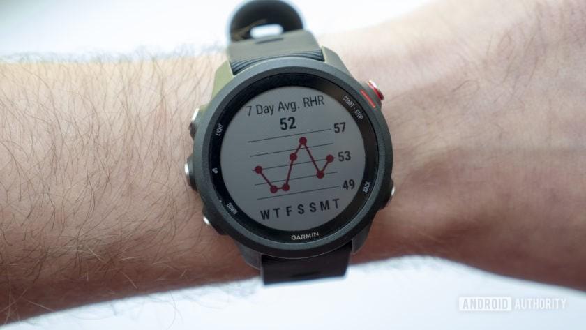garmin forerunner 245 music running watch resting heart rate screen