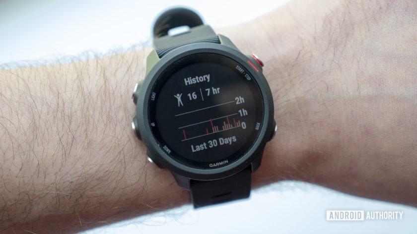 garmin forerunner 245 music running watch heart rate history